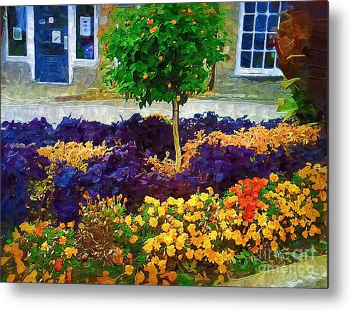 Colorful Flowers Metal Print featuring the painting Lovely Colors by Deborah Selib-Haig DMacq
