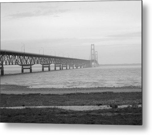 Michigan Metal Print featuring the photograph Mackinaw Bridge by Scott Hovind