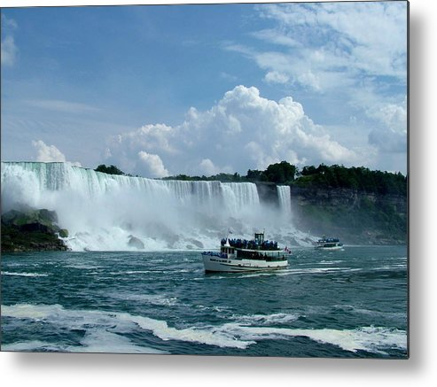 Maid Of The Mist.just A Snap From My Hols In Canada 2006 Metal Print featuring the photograph Maid Of The Mist by Martina Fagan