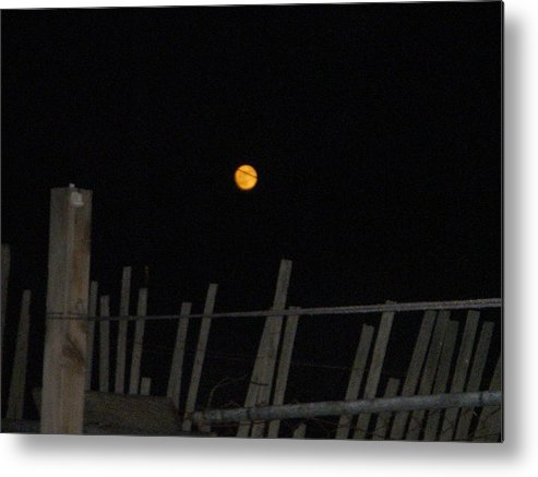 Eclipse Metal Print featuring the photograph Manderin Moon by Joan Panetta