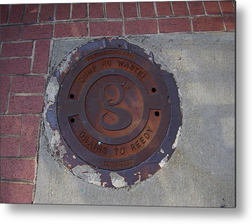 Manhole Metal Print featuring the photograph Manhole II by Flavia Westerwelle