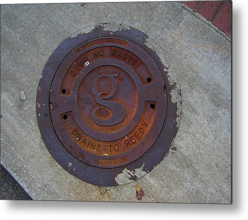 Manhole Metal Print featuring the photograph Manhole IIi by Flavia Westerwelle