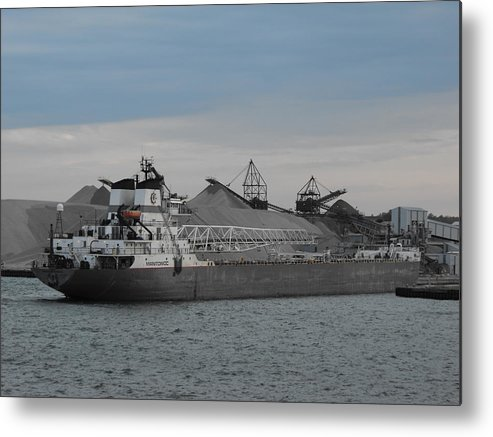 Manitowoc Metal Print featuring the photograph Manitowoc Arrives by Dennis Adrian