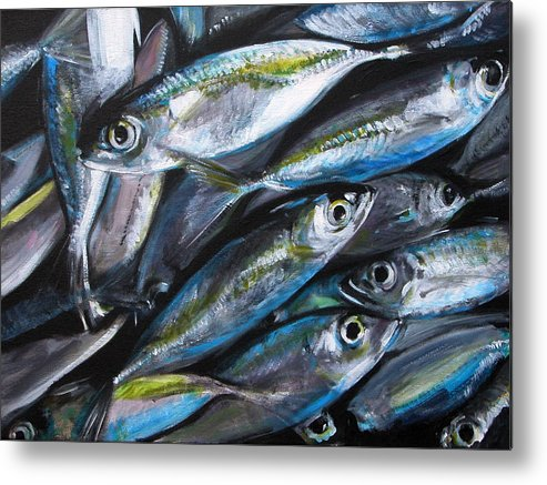 Fish Metal Print featuring the painting Market Day by Fiona Jack