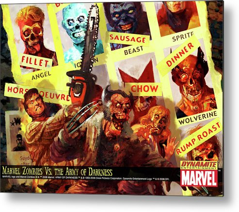 Marvel Zombies Metal Print featuring the digital art Marvel Zombies by Mery Moon