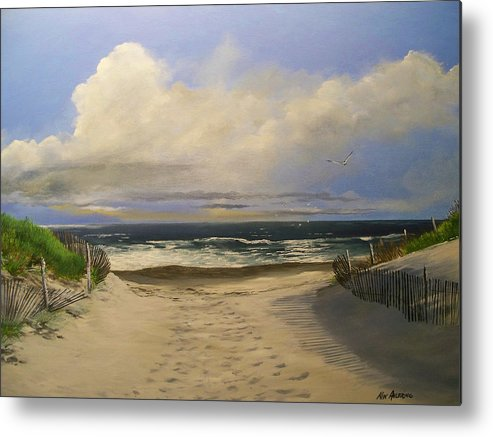 Beac Metal Print featuring the painting Mary's Beach by Ken Ahlering