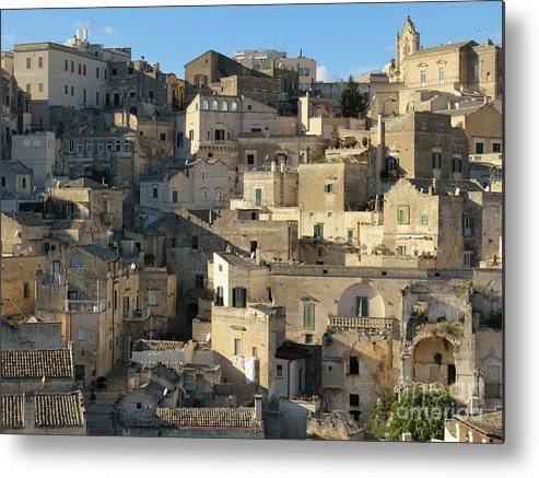 Matera Metal Print featuring the photograph Matera Stone Homes by Laurie Morgan