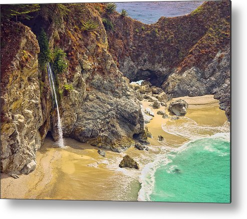 Mcway Falls Metal Print featuring the photograph Mcway Falls On The California Coast by Rikka-chan