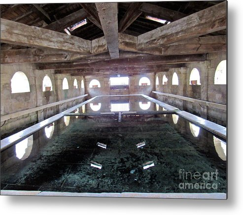 Medieval Metal Print Featuring The Photograph Bath House By Barbara Plattenburg