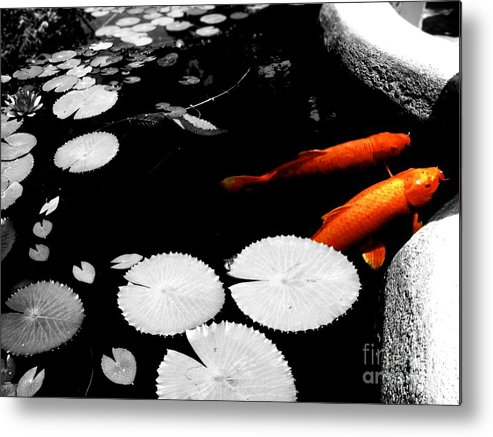 Koi Metal Print featuring the photograph Meeting Of The Koi by Nicole Terrell