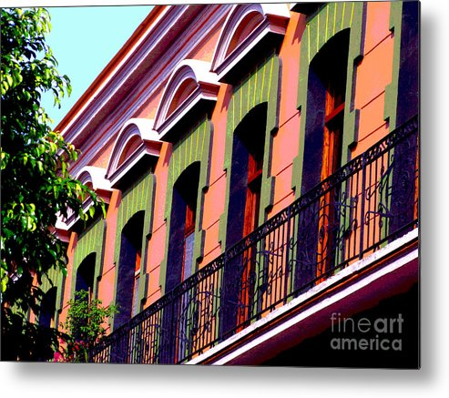 Darian Day Metal Print featuring the photograph Melville Balcony By Darian Day by Mexicolors Art Photography