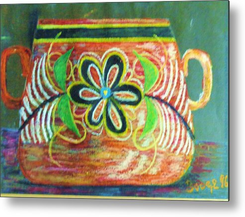 Pottery Metal Print featuring the painting Memories Of Mexico by Travis Kealy