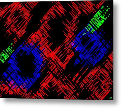 Methodical Metal Print featuring the digital art Methodical by Will Borden