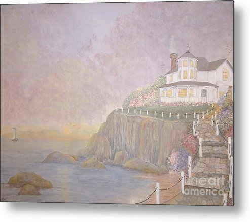 Vacation Home Metal Print featuring the painting Mid-summer Dream by Patti Lennox