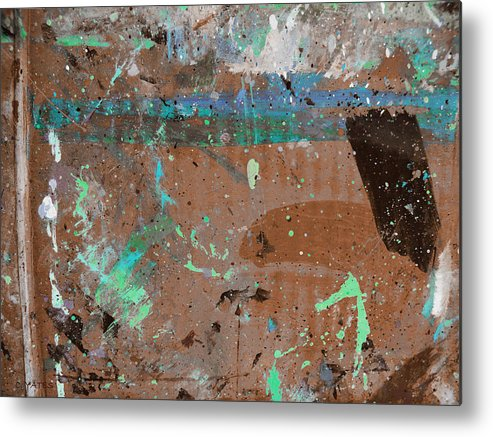 Abstract Metal Print featuring the painting Milestone by Charles Yates