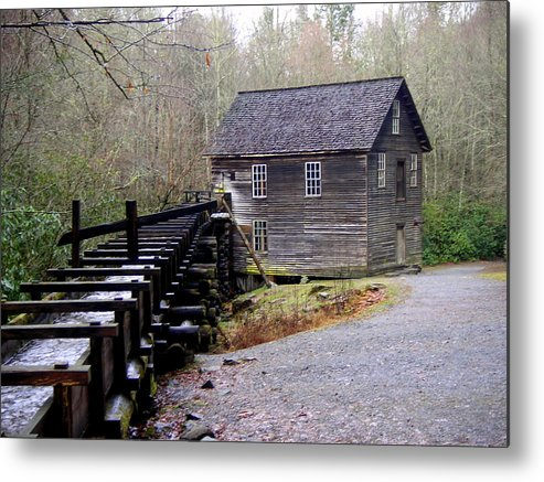 Great Smokey Mountain National Park Metal Print featuring the photograph Mingus Mill by Marty Koch