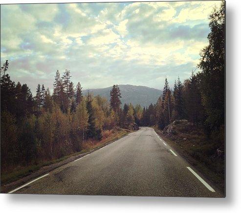 Misty Metal Print featuring the photograph Misty Roads by Ingvild Nymoen Bragstad
