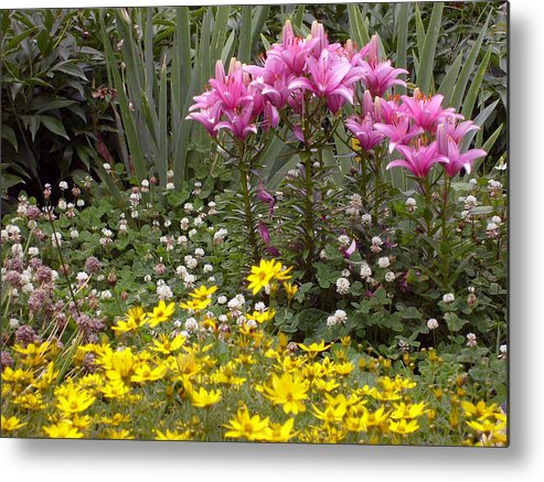 Mother Metal Print featuring the photograph Moms Garden by Ann Willmore