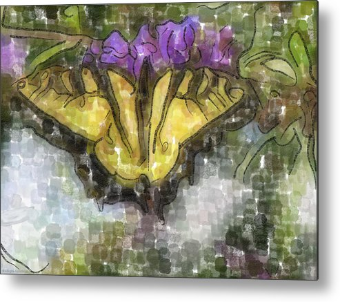 Butterfly Metal Print featuring the digital art Monarch by Ches Black