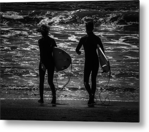 Moonlit Metal Print featuring the photograph Moonlit Stroll by Heather Joyce Morrill