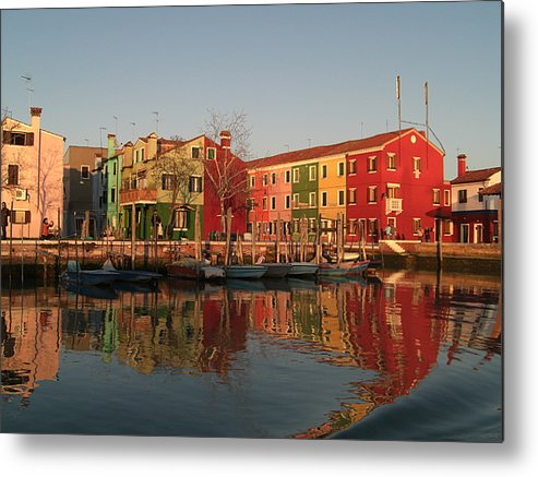 Morano Island In Venice Metal Print featuring the photograph Morano Island In Venice by Paul Jessop