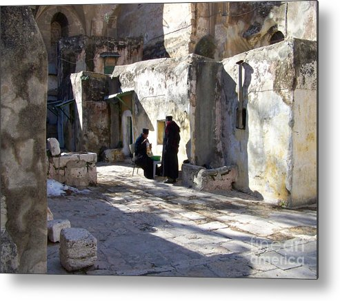 Jerusalem Metal Print featuring the photograph Morning Conversation by Kathy McClure
