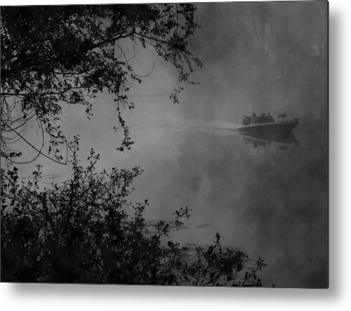 Fishing Metal Print featuring the photograph Morning Fisherman by Michael L Kimble
