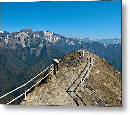Moro Rock Sequoia National Park Metal Print featuring the photograph Moro Rock Sequoia National Park by Daniel Farina
