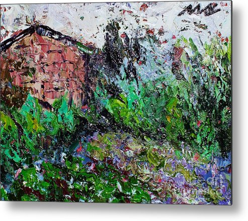 Garden Paintings Metal Print featuring the painting Mother by Seon-Jeong Kim
