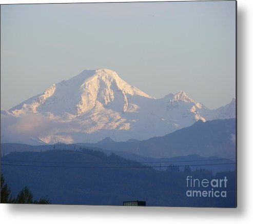 Mountain Metal Print featuring the photograph Mount Baker by Attila Jacob Ferenczi