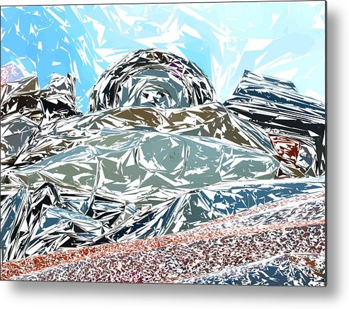 Auto Metal Print featuring the photograph Mount Saint Auto Crush by Stan Magnan