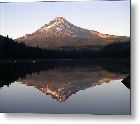 Nature Metal Print featuring the photograph Mt Hood by Eric Workman