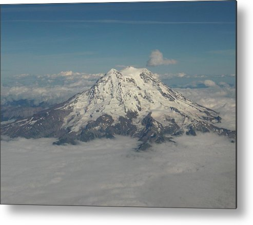 Mountain Metal Print featuring the photograph Mt Ranier by Janet Hall