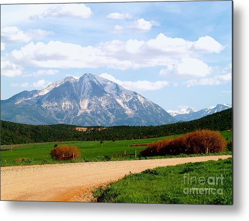 Nature Metal Print featuring the photograph Mt. Sopris II - A Colorado Landscape by Christine S Zipps