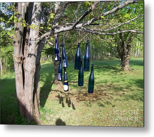 Blue Bottles Metal Print featuring the photograph My Bottle Tree - Photograph by Jackie Mueller-Jones