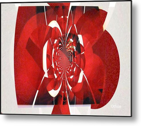 Abstract Metal Print featuring the painting My Funny Valentine by Kathy Othon