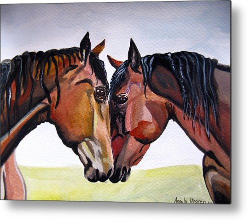 Horses Metal Print featuring the painting My Hope Is In You by Angela Ungren