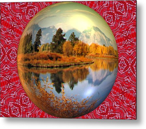 Abstract Digital Art Metal Print featuring the photograph My World by Guillermo Mason