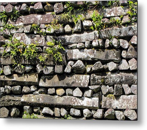 Nan Madol Metal Print featuring the photograph Nan Madol Wall2 by Dan Norton