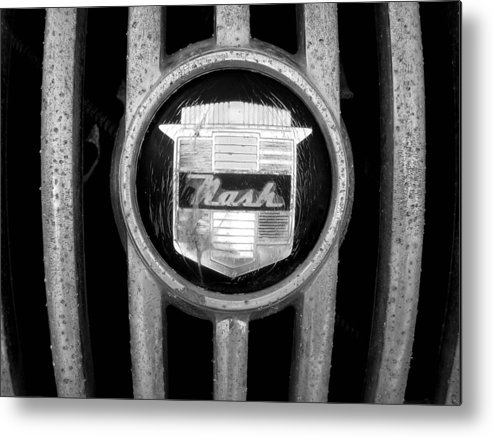 Car Metal Print featuring the photograph Nash Emblem by Audrey Venute