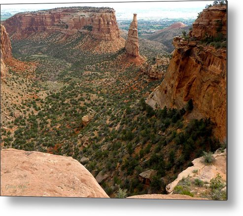 National Monument Colorado Mountains Southwest Rock Formations Hoodoos Landscapes  Metal Print featuring the photograph National Monument Colorado by George Tuffy