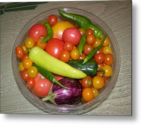 Vegetables Metal Print featuring the photograph Native Veggies by Richard Payer