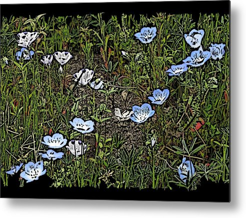 Flowers Metal Print featuring the digital art Natures Field Of Dreams by Tim Allen