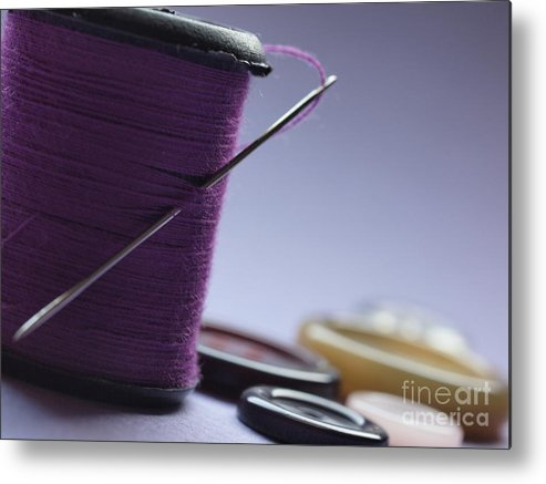 Needle Metal Print featuring the photograph Needle And Thread by Valerie Morrison