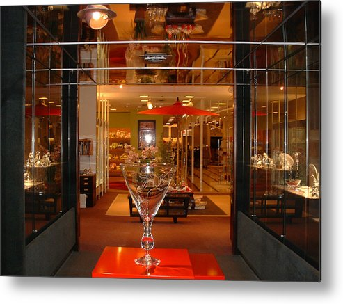 Crystal Department Metal Print featuring the photograph Neiman Marcus by Diane Wallace