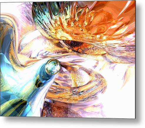 3d Metal Print featuring the digital art New Beginnings Abstract by Alexander Butler