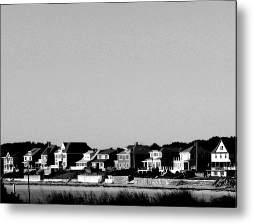 Sea Shore Metal Print featuring the digital art New England Sea Shore by Donna Thomas