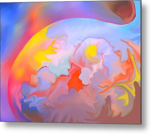 Abstract Metal Print featuring the digital art New World by Peter Shor