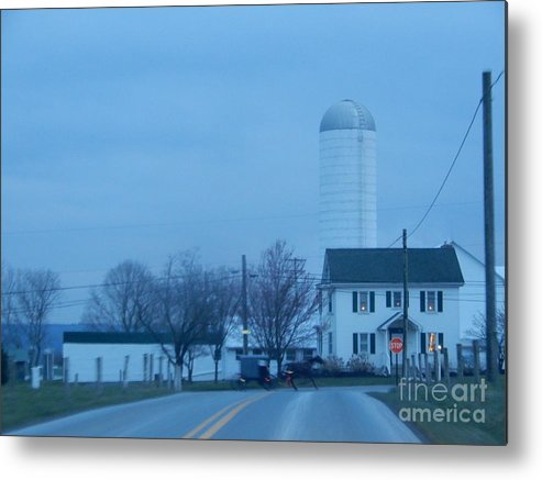 Amish Metal Print featuring the photograph Nightfall by Christine Clark