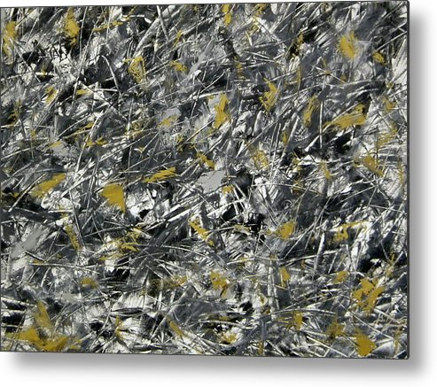Abstract Metal Print featuring the painting Nightmare by Guillermo Mason